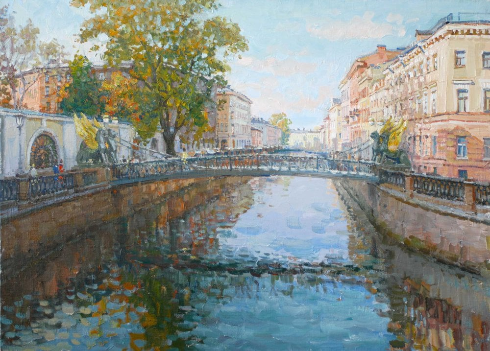 Картина маслом на холсте ❀ Банковский мост