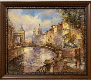 Painting - Banking bridge