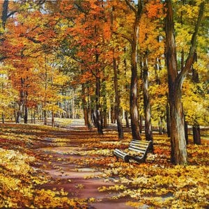 Landscape painting in modern art