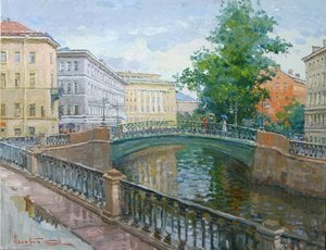 "Painting ""Demidov bridge"""