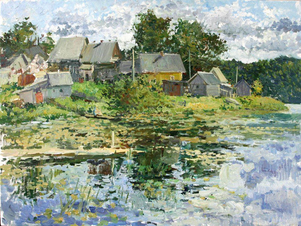Oil painting on canvas ❀ Shemenichi village