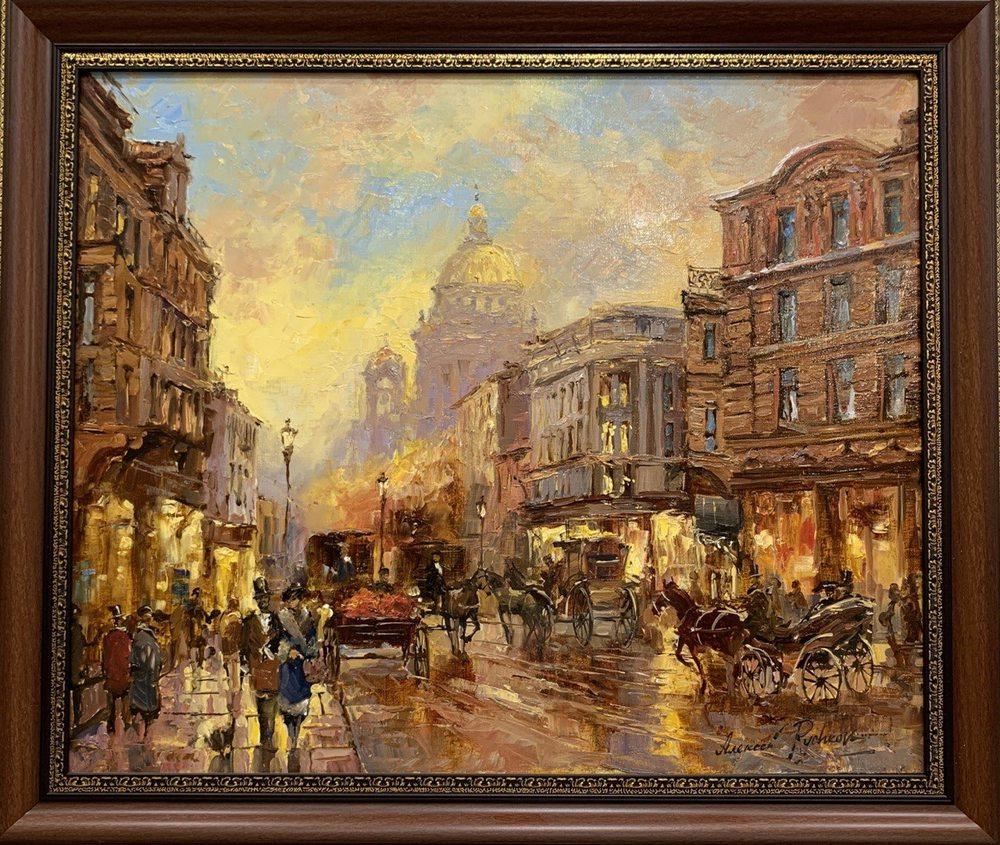 Oil painting on canvas ❀ Evening on Malaya Morskaya