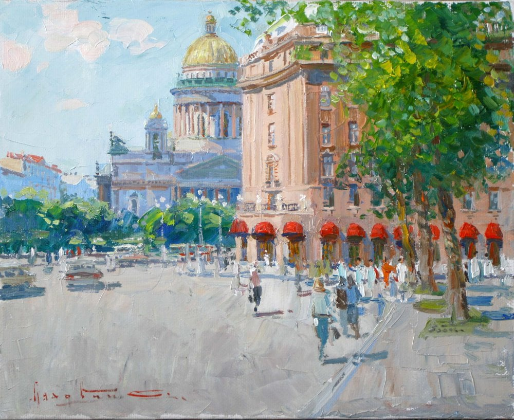 Oil painting on canvas ❀ St. Isaac's Square