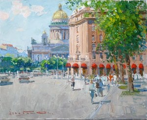 "Painting ""St. Isaac's Square"""