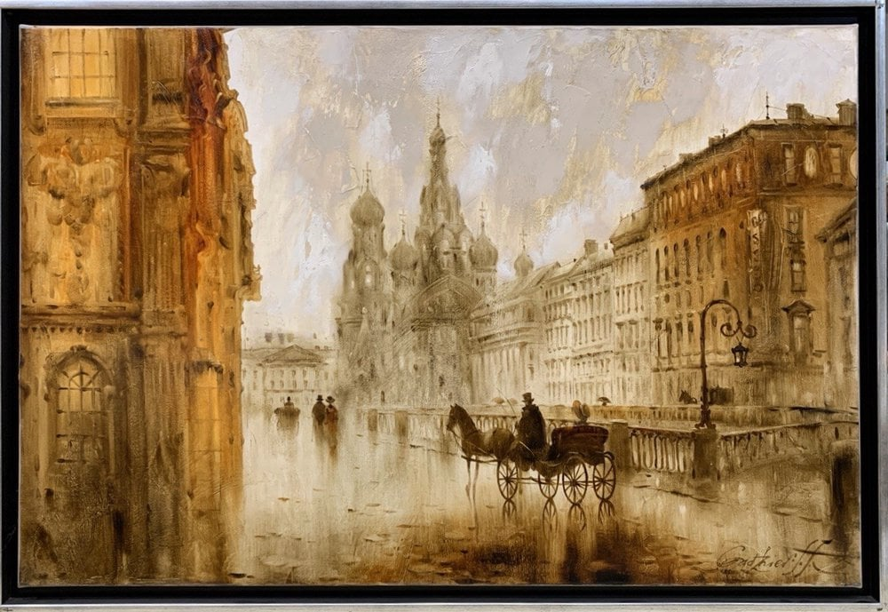 Painting On the Griboedov canal