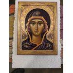Икона Богородица Знамение оплечная