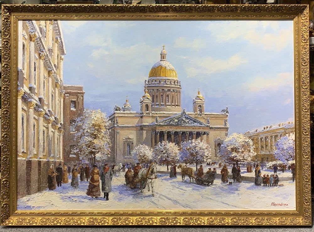 Oil painting on canvas - Nevskii prospect
