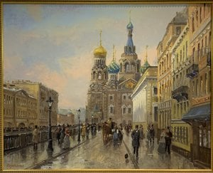Painting - Saviour on the spilled blood