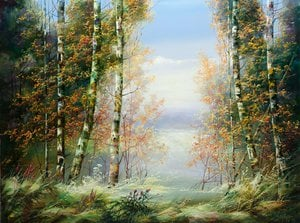 Painting - Birches