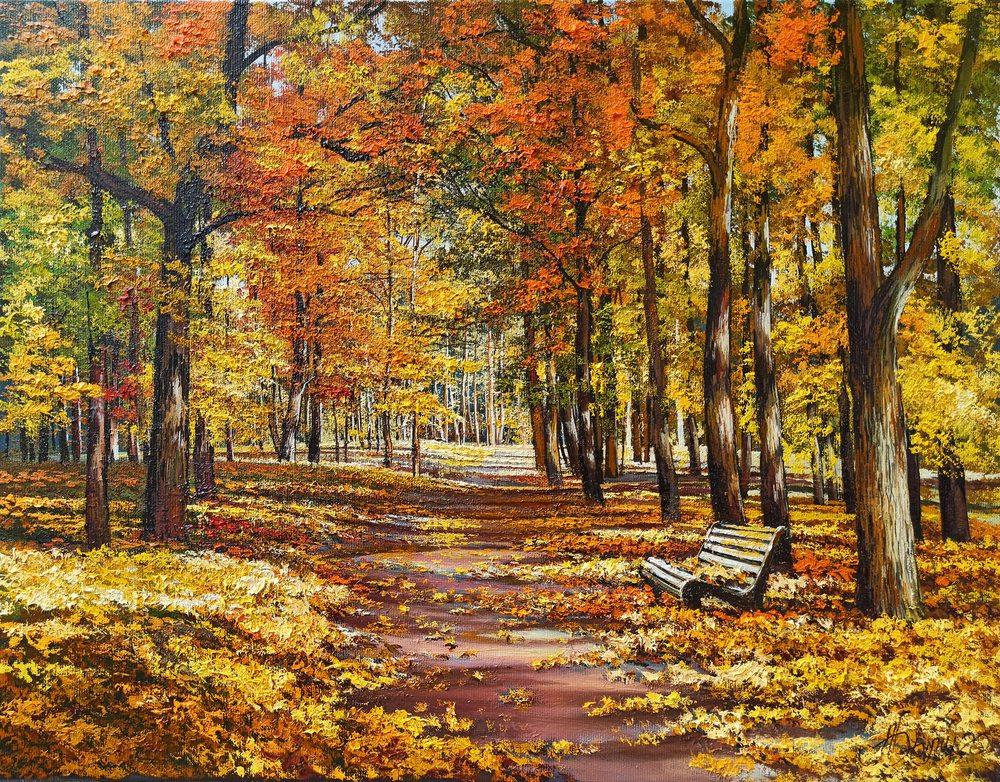 Oil painting on canvas - Velvet autumn