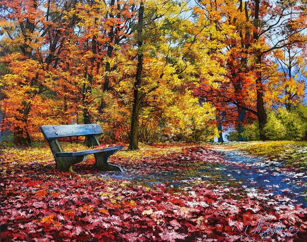 Oil painting on canvas ❀ The colors of autumn