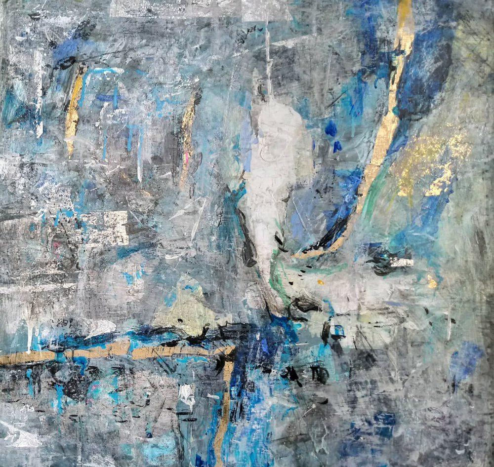 Картина маслом на холсте - абстракция-1