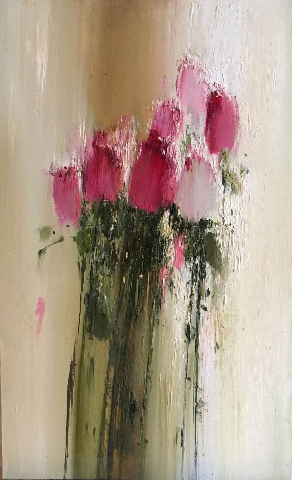 Oil painting on canvas - Bouquet of roses