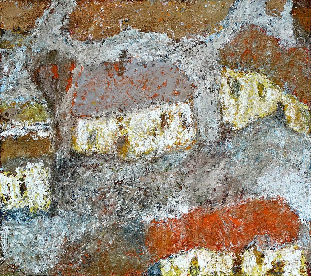 Oil painting on canvas - Tea with lemon