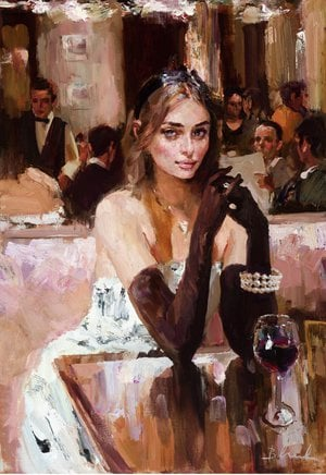Painting - Cafe