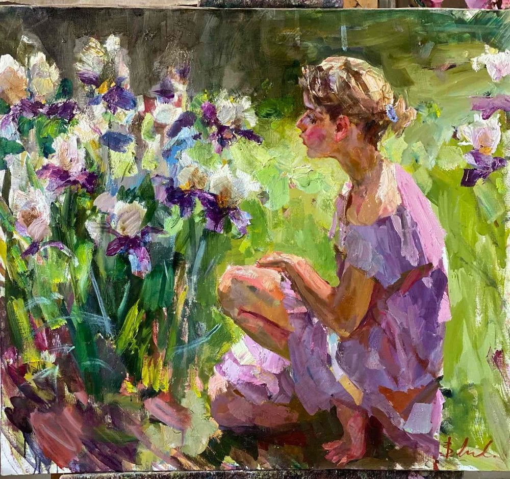 Oil painting on canvas ❀ In the Garden