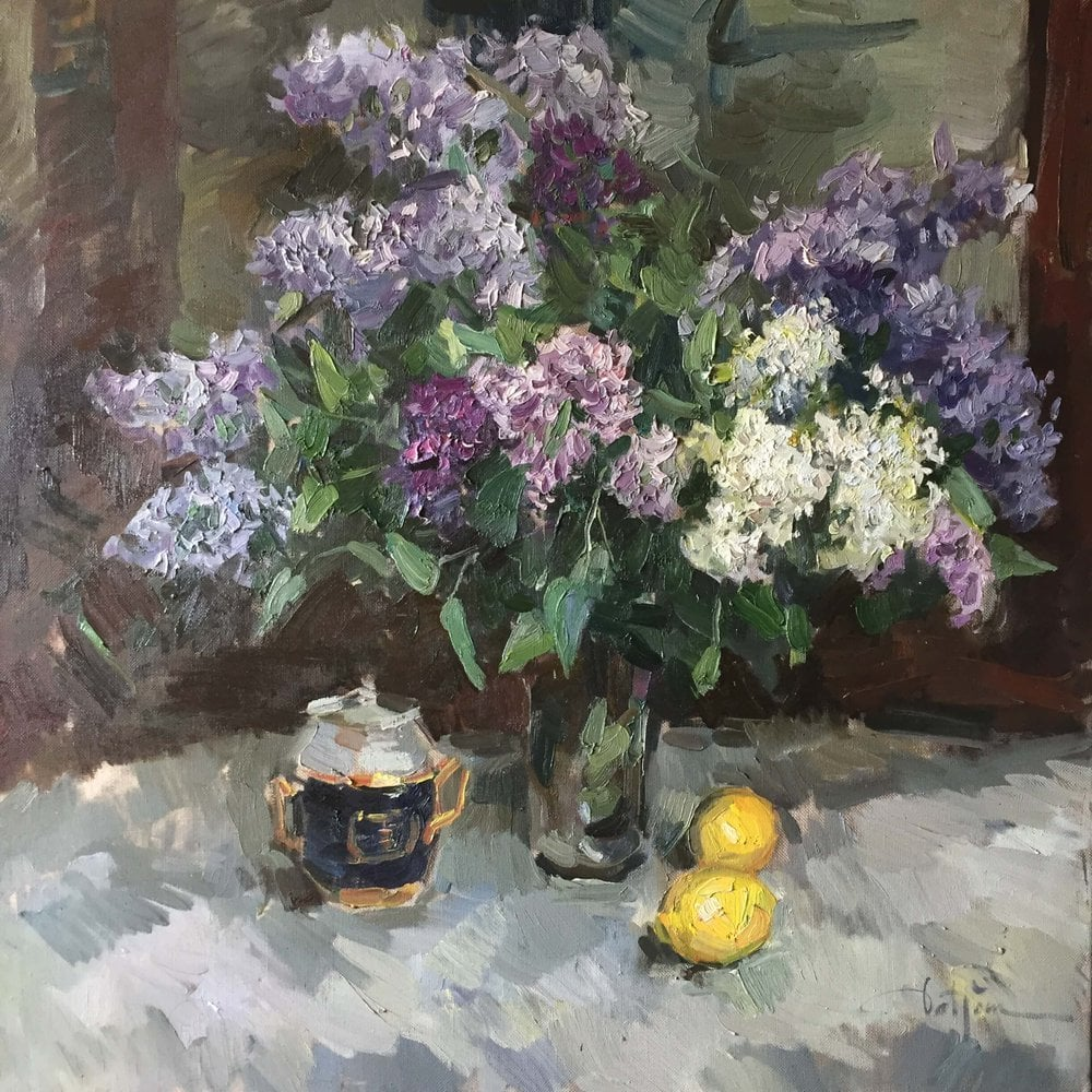 Oil painting on canvas ❀ Lilac