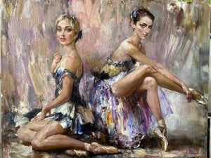 Painting - The chorus girls