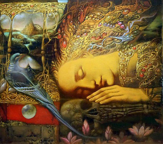 Oil painting on canvas - Illusionist