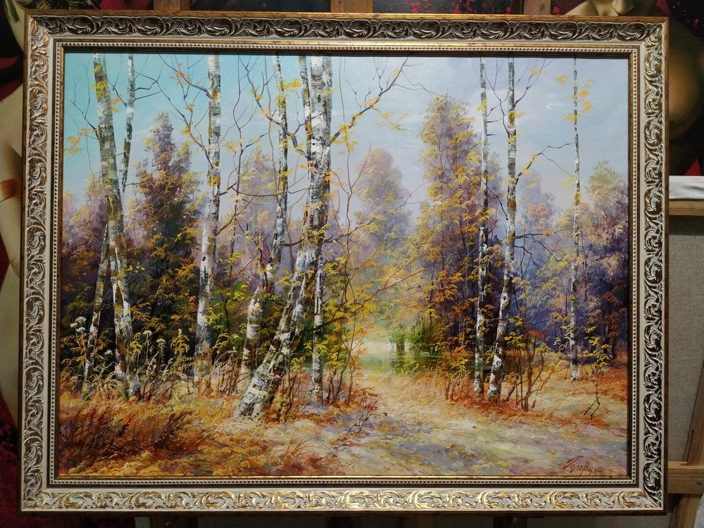 Oil painting on canvas - Autumn lace