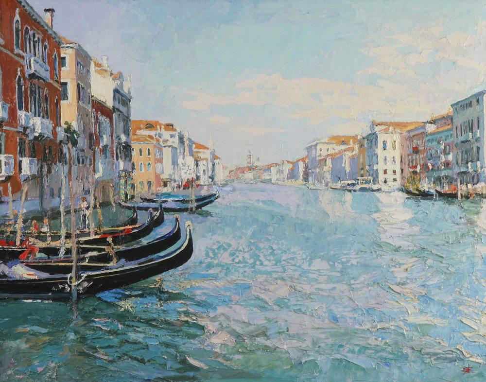 Картина маслом на холсте - Венеция
