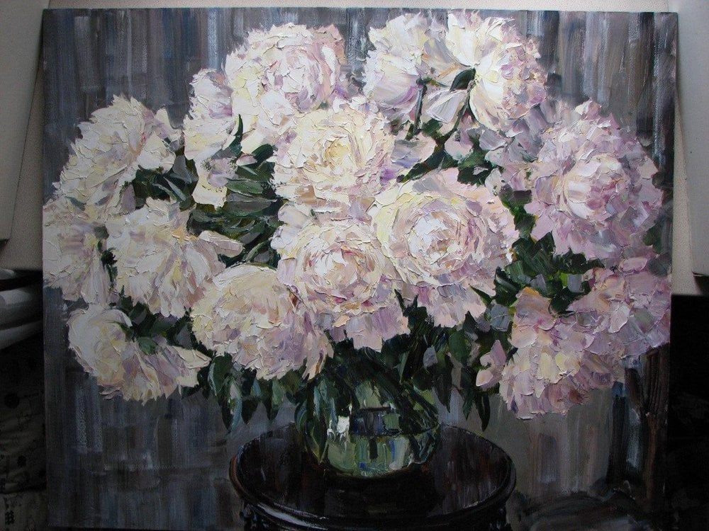 Oil painting on canvas ❀ Pionies