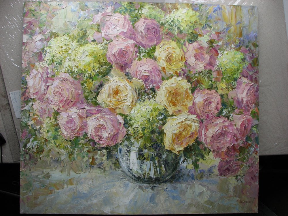 Oil painting on canvas - Roses