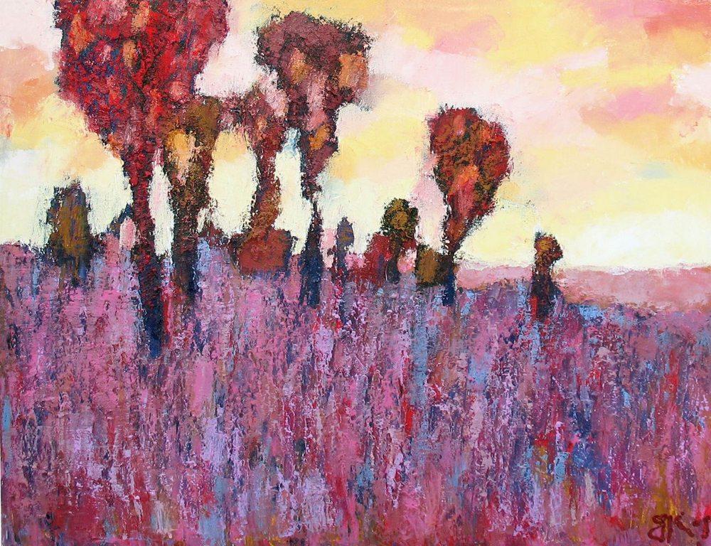 Картина маслом на холсте ❀ Вслед за солнцем ❀
