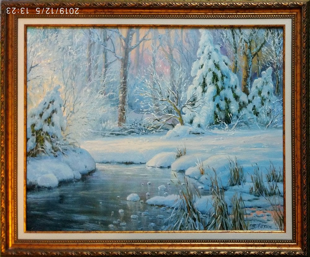 Oil painting on canvas ❀ Beauty winter
