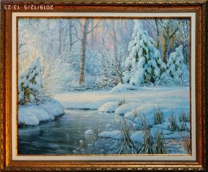 "Painting  ""Beauty winter"""