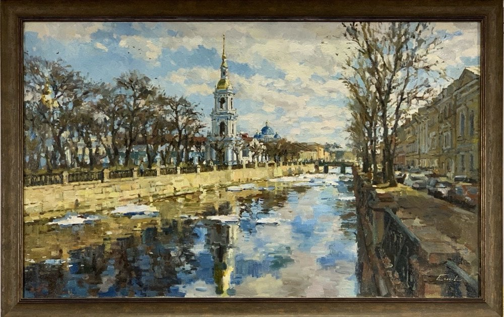 Oil painting on canvas ❀ Embankment