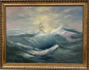 Painting - On the crest of a wave