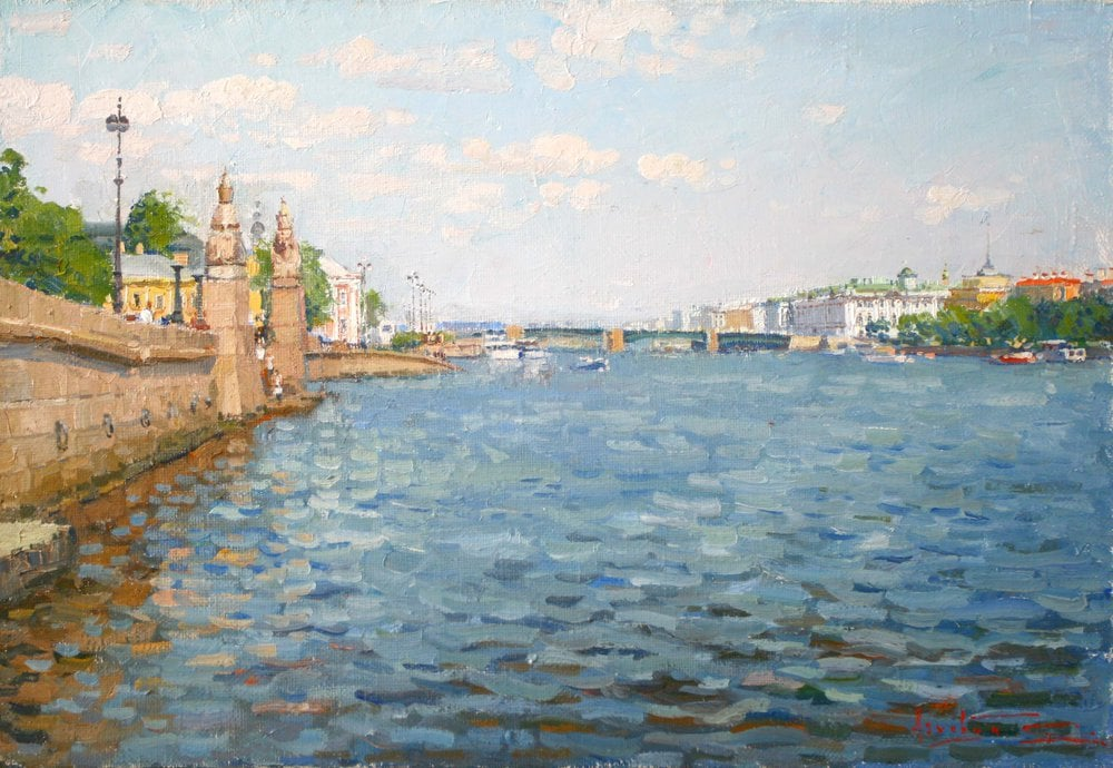 Painting On the Neva river