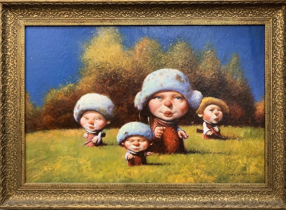 Oil painting on canvas ❀ The hunters