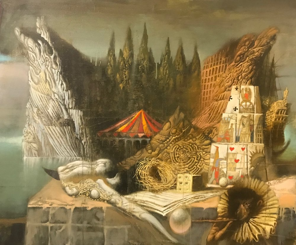 Oil painting on canvas ❀ Island