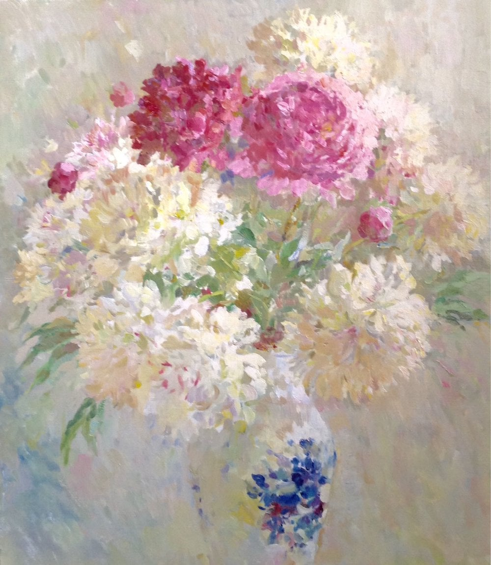 Oil painting on canvas ❀ Peonies