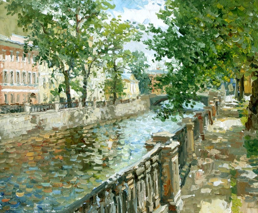 Oil painting on canvas ❀ Griboedov Canal. Petersburg