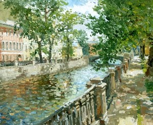 "Painting ""Griboedov Canal. Petersburg"""