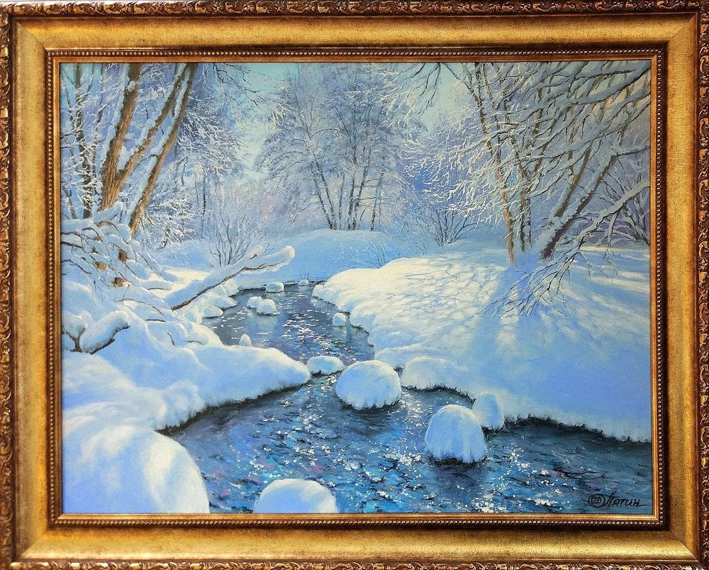 Oil painting on canvas ❀ Stream