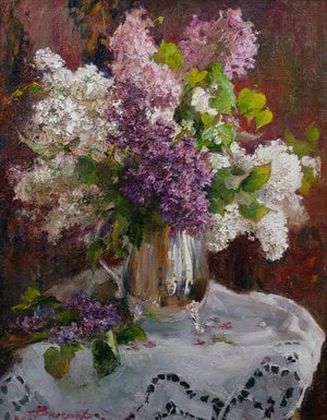 "Painting ""Lilac in a vase"""