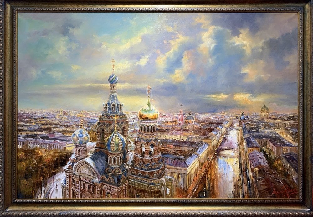 Painting Church of the Saviour on the Spilled Blood