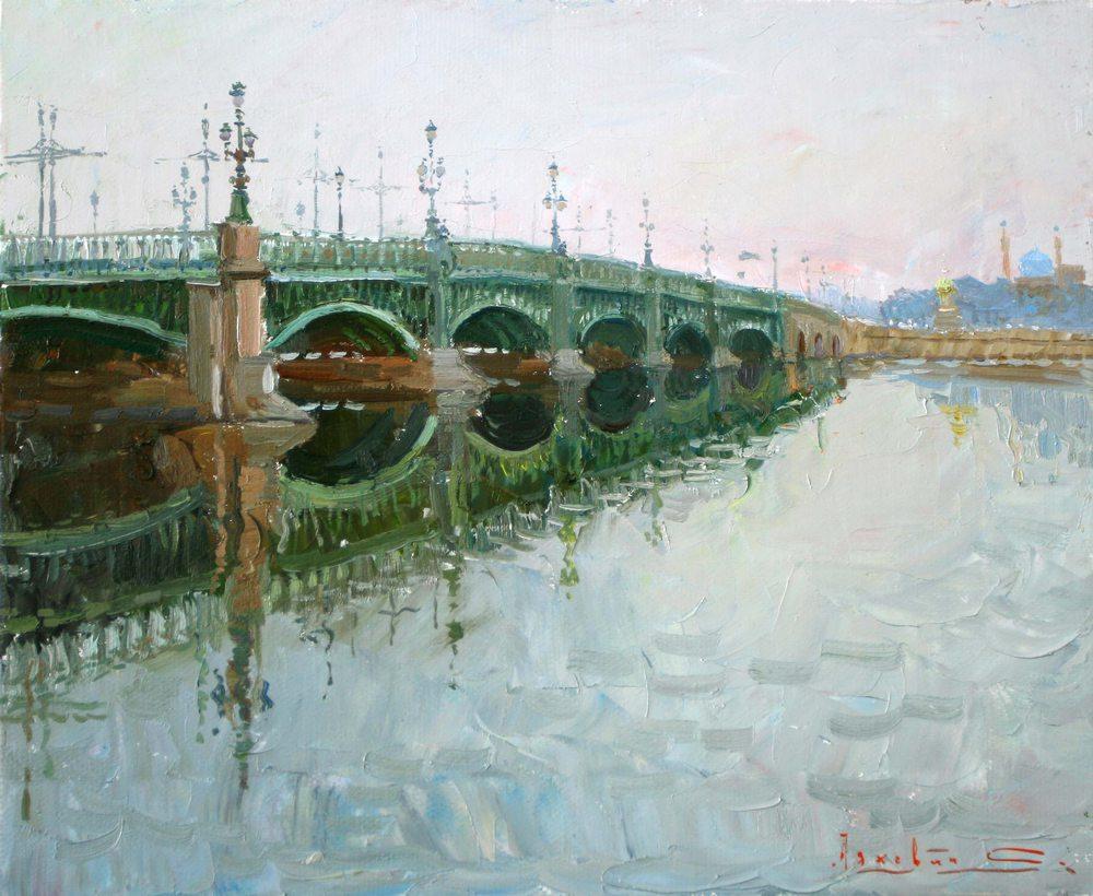 Painting Troitsky Bridge