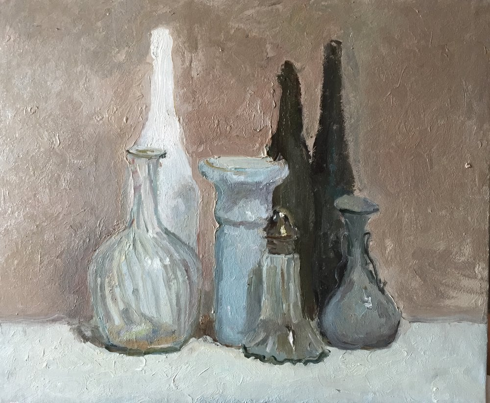 Oil painting on canvas - Visiting Morandi
