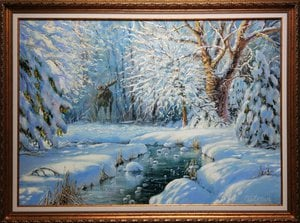 Painting - In the winter forest