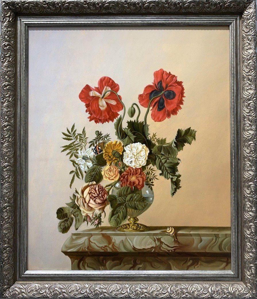 Картина маслом на холсте ❀ Жизнь с цветами