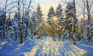 Painting - Winter forest