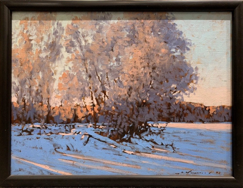 Oil painting on canvas ❀ Winter landscape
