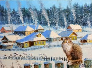 Painting - Winter comfort