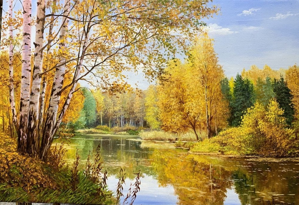 Oil painting on canvas ❀ Golden time